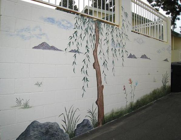 Outside Mural, Block Wall Mural, Wall Mural, Mural Painting, Exterior Painting, Mural, Landscape Mural, Child's Mural,