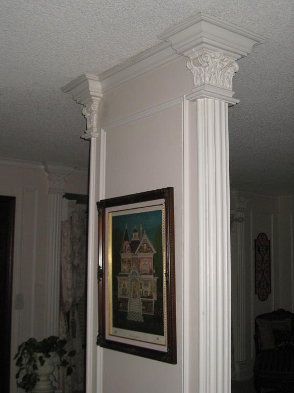 Columns, Molding, Interior Design, Architecture, Traditional, Molding,Picture Frame Molding,