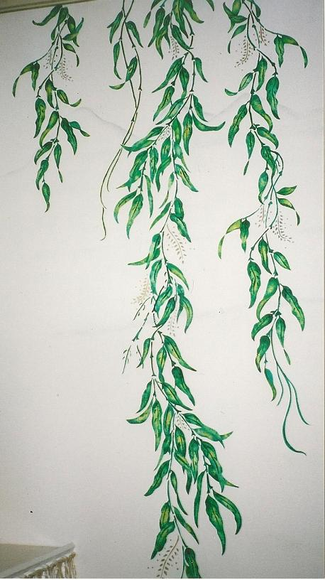 Mural, Wall Mural, Sherman Oaks, Tree Branch Mural, Branches Mural, Willow Branches,